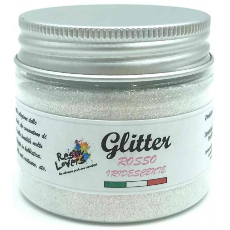 Iridescent Red Glitter 25g