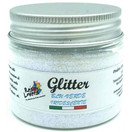 Iridescent Blue-Green Glitter 25g