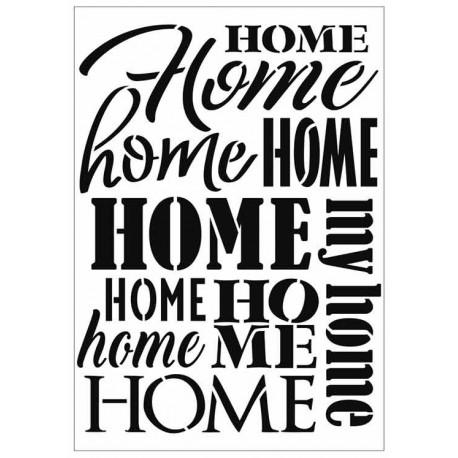 Stencil Home A4