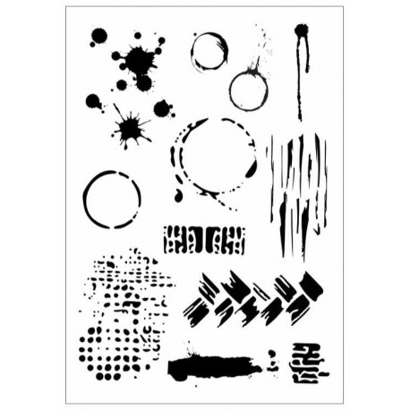 Stencil Macchie A4