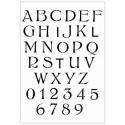 Stencil Alfabeto e Numeri A4