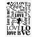 Stencil Love A4