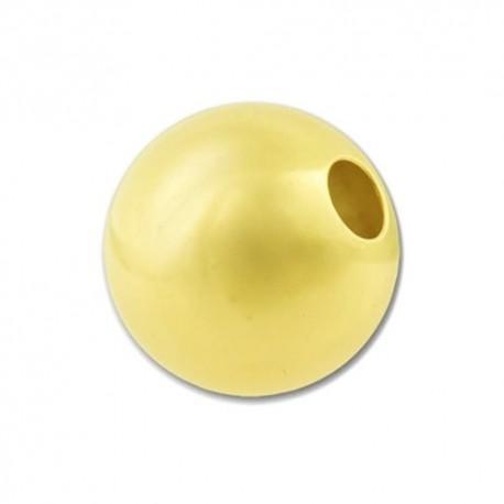 Pallina Liscia color Rodio 10mm 10pz
