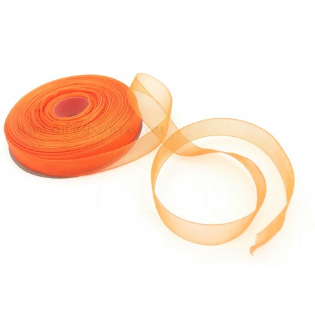 Orange Bordered Organza Ribbon 1.5 cm