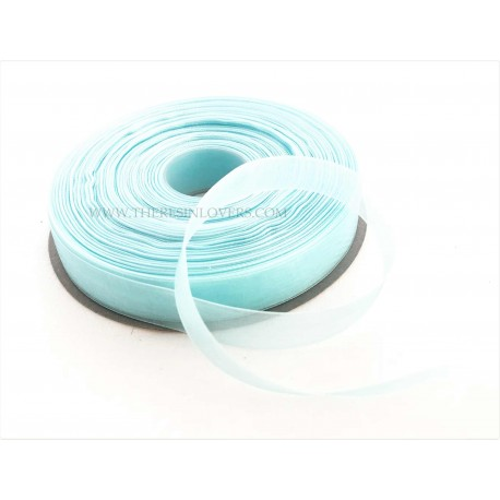 Light Blue Organza Border Ribbon 1.5 cm