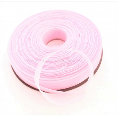 Pink Bordered Organza Ribbon 1.5 cm