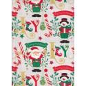 Gift card Santa Claus & Snowman 70x100cm