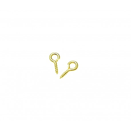 Screw nail color gold 8x4x1mm 10pz