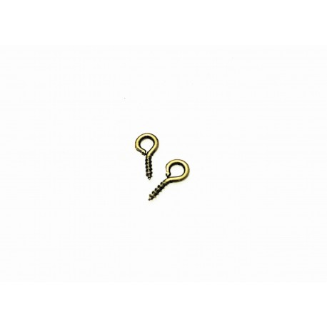 Screw nail color bronze 8x4x1mm 10pz