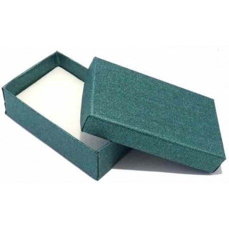 Scatola porta bijoux verde 80x50mm