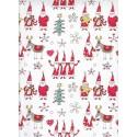 Santa & Reindeer gift card 70x100cm